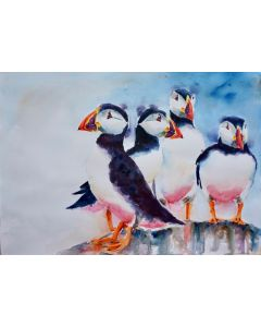 Puffins on Guard No 1
