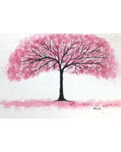 Delicate pink cherry blossoms tree nr 2