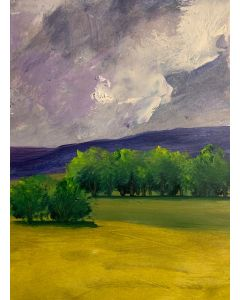 In summers passed... original oil painting within a mount