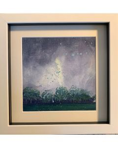 The summer squall in June - framed original oil painting.