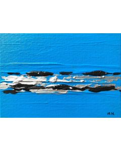 Blue abstract acrylic painting nr 3
