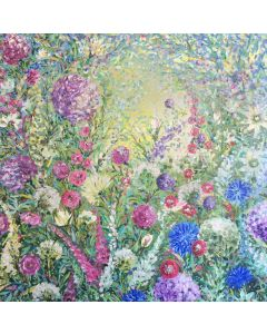 Impressionist Chrysanthemum and Allium