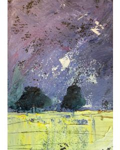 The damson skies - May time storm ( original oil painting in a mount )