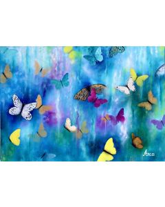 Butterfly painting, abstract butterfly art, oil painting, original painting, butterflies wall art
