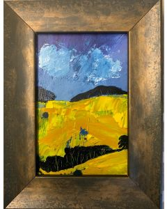 The dazzle of spring sunshine - framed original oil painting