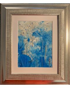 Silver lace edge - the frosted forest - original framed painting