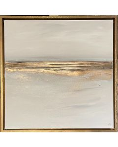 Champagne Sands and gold frame