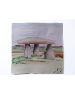 Buy One Get One Free Art|Landscape Watercolour Paintings on Paper H28.5cmxW29cm|Scenery Painting on Rocks and Country yard|Unframed Painting
