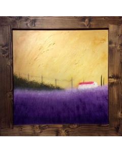 Lavender In Provence- Acrylic On Plywood