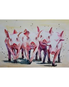 Piglets 'Trotting Home'