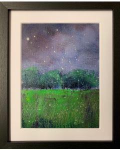 There's a storm rolling in.. framed original oil painting