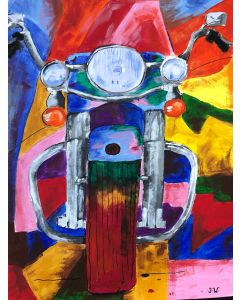 Harley Davidson Bike With A Rainbow Of Colours