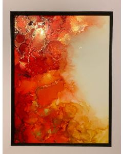 Abstract Burnt Orange, Red & Gold