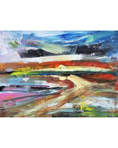 Abstract Landscape Beach 229 24 x 32 x 0.5 inches (60 x 80 x 2 cm) Acrylic on Stretched Canvas