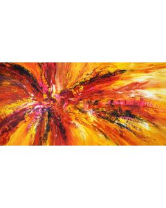 Yellow Red Abstraction XXL 2