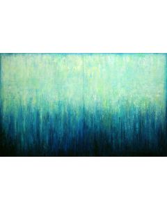 Abstract Turquoise Landscape VII