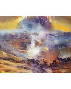 LARGE BEAUTIFULL ABSTRACT FLYING DREAMS COMPOSITION ABOUT CHILDHOOD COLORED DREAMS MELANCHOLIA O KLOSKA