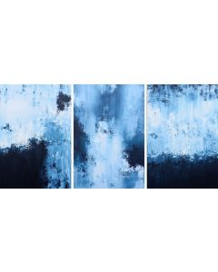 XXXL Midnight Whispers 183 x 92 cm (72 x 36 inch) Abstract Paintings Triptych
