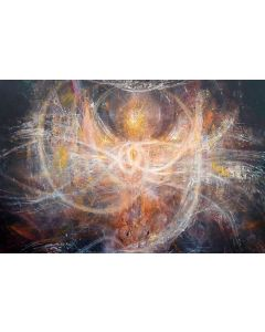 LARGE XXL PAINTING Gigantic Size Angel Composition Eclectic Incandescent Art