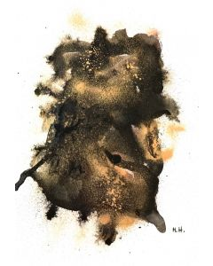Black and gold abstract A4