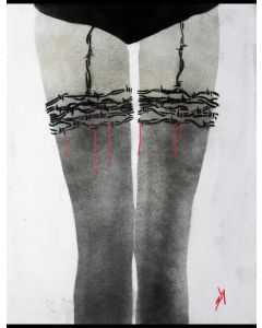 Barbed Wire Stockings (on paper)
