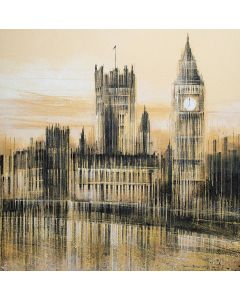 London - Big Ben And The Houses Of Parliament In Late Evening Light
