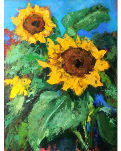 Sunflowers Acrylic Painting