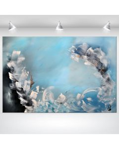Beautiful Madness- Acrylic abstract painting on stretched canvas