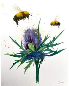 Bumble Bees & Thistle