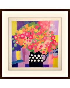 Spring Flowers in a Black Jug