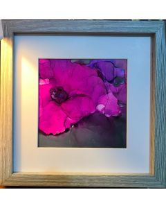 Black Opium Abstract Floral Framed