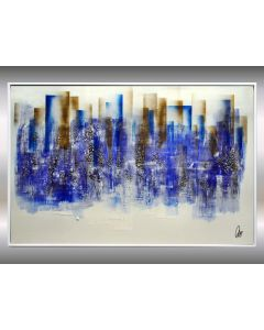 Blue Lights - Abstract Art - Acrylic Painting - Canvas Art - Framed Painting - Abstract Painting - Industrial Art