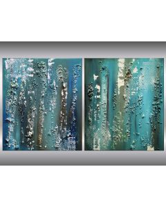Blue Visions - Acrylic paintings on canvas, ready to hang