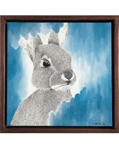 The Dreamy Blue Bunny Painting on Canvas