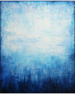 Blue Abstract Landscape II