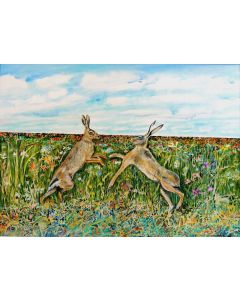Hares in the Field.