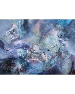 Gigantic xxl huge size 200 cm painting Between a whale song and a broken butterfly wing master O Kloska