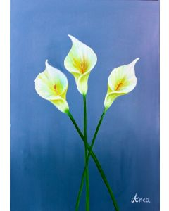 Lily Painting, Lilies, Cala Lily, Flower Painting, Floral Art,  Original Art, oil Painting, Flowers,Floral