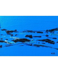 Blue abstract acrylic painting nr 2