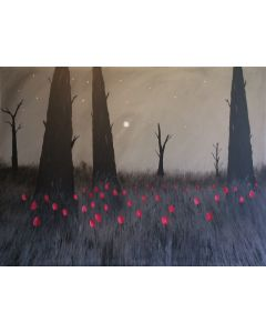 Forest's Long Legs- Acrylic On Stretched Canvas