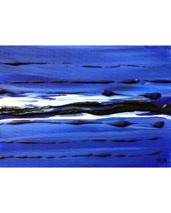 Blue wave abstract