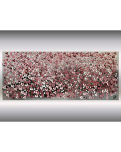 Just a Branch - Acrylic Painting on Canvas, Painting Blooming Tree