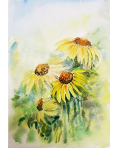 Spring flowers, Yellow cone flowers