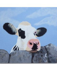 Cow and Dry stone wall