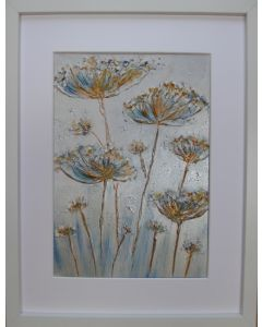 Cow Parsley textures with silver and bronze