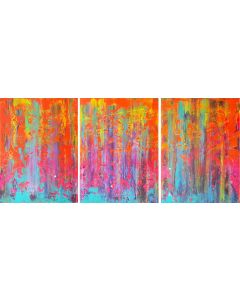 Crazy April - triptych abstract