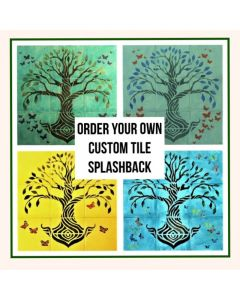 Ceramic Tile Mural Splashback Hand Painted To Your Specifications