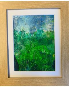 The best of days - summer in The Greenwood - original framed painting