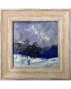 More snow on the way - original framed oil painting