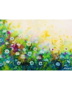 Flowers Painting on Canvas , Colourful Floral Painting,  original Painting, Floral Wall art